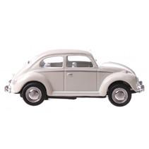 auto Volkswagen Beetle junior 6 cm die-cast crème