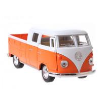 schaalmodel Volkswagen 1:34 die-cast 10 cm oranje
