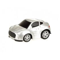 sportwagen Metal jongens 6,5 cm zilver