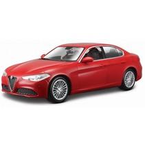 schaalmodel Alfa Romeo Giulia 1:24 rood