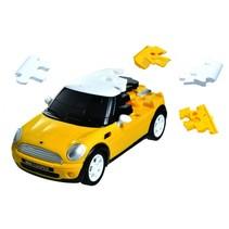 puzzelauto Mini Cooper 1:32 geel