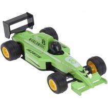 raceauto 13 cm groen