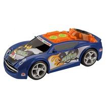 raceauto BeatSpeed licht en geluid 24 cm blauw