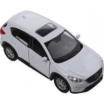 schaalmodel Mazda CX-5 1:34 wit 11 cm