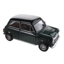 schaalmodel Mini Cooper 1300 donkergroen 10 x 5 x 4 cm