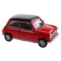 schaalmodel Mini Cooper 1300 rood 10 x 5 x 4 cm