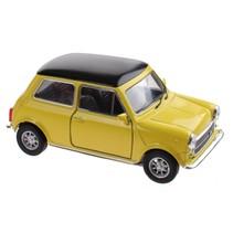 schaalmodel Mini Cooper 1300 geel 10 x 5 x 4 cm