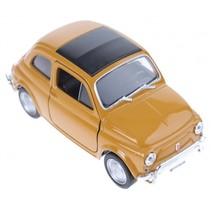 schaalmodel Fiat 500 classic pull-back bruin