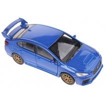 schaalmodel Subaru WRX STI blauw