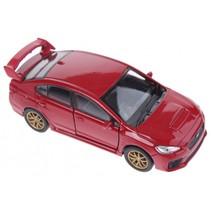 schaalmodel Subaru WRX STI rood