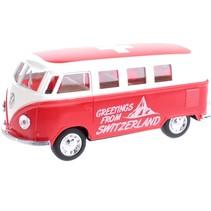 miniatuur Volkswagen Bus Swiss Print