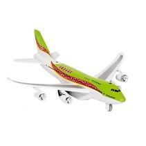 Metalen Vliegtuig Met Geluid en Licht 18,5 cm Groen