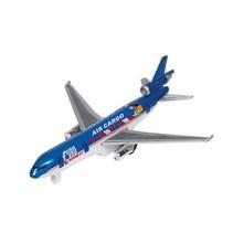 Metalen Vliegtuig 19 cm Blauw