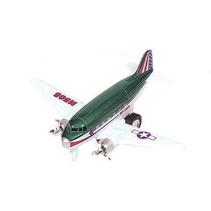 Metalen Vliegtuig 12 cm Groen