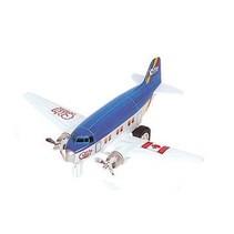 Metalen Vliegtuig 12 cm Blauw