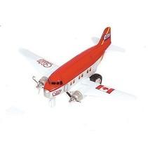 Metalen Vliegtuig 12 cm Rood