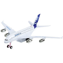 vliegtuig Airbus 3803 18 cm blauw/wit
