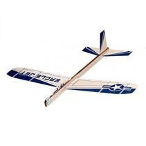 BalsaBirds Eagle Jet hout blauw 29 cm