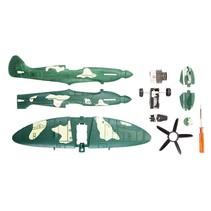 bouwpakket Army Fighter Jet Plane 16 cm groen 10-delig