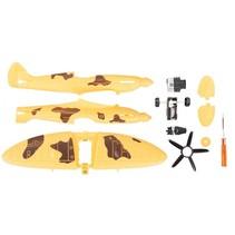 bouwpakket Army Fighter Jet Plane 16 cm geel 10-delig