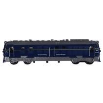 trein 7x18 cm blauw