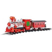 Set locomotief met spoor en wagon 8-delig 19cm