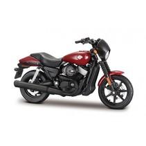 schaalmodel Harley Davidson 2015 Street 750 1:18 rood