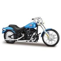 schaalmodel Harley Davidson 2002 Fxstb Night Train 1:18 blauw