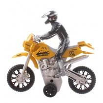 motor met bestuurer Make Haste geel 14 cm
