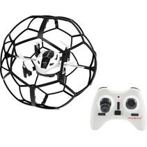 mini drone Soccer Drone 9 cm wit/zwart