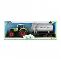 tractor met watertank groen 20 cm