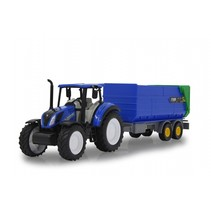 New Holland tractor met kiepwagen 35 cm blauw