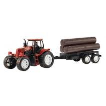 tractor met boomstam rood 42 cm