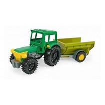 tractor met kiepkar 35 cm geel