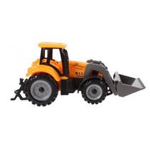 tractor met voorlader 13,5 cm oranje