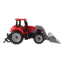 tractor met voorlader 13,5 cm rood