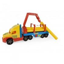 vrachtwagen met oplegger en balken 80 cm multicolor