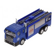 vrachtwagen met aanhanger 16 cm blauw