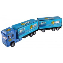 vrachtwagen transporter 65 cm blauw