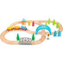 speelgoedtrein Big Journey hout junior 40-delig