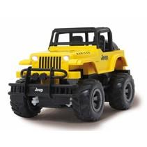 RC Jeep Wrangler Rubicon 2,4 GHz geel 1:18