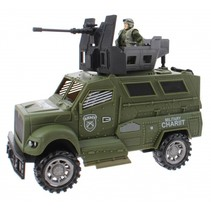 speelset Army special forces jeep groen 3-delig