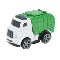 vuilniswagen 11 cm wit/groen