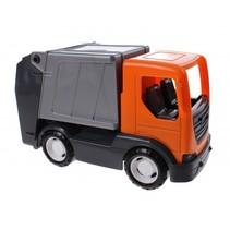 speelgoed Vuilniswagen oranje 26 cm
