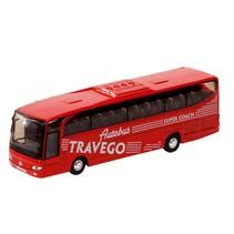 Metalen Bus Travego: 18 cm Rood