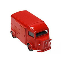 schaalmodel Citroen type H pull-back 1:38 rood