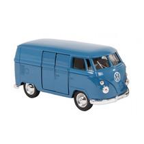 VW spijlbus 11,5 cm jongens aluminium blauw