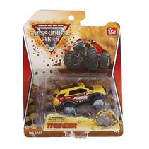 crossauto Monster jongens 8 cm diecast geel