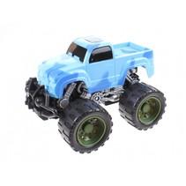 Monstertruck frictiemotor blauw 14 cm