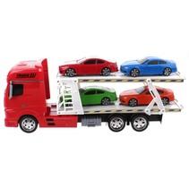 autotransporter jongens 45 cm rood 5-delig
